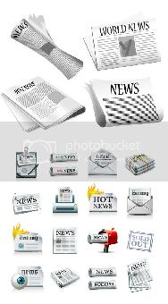 Stock vector Mailbox and newspaper