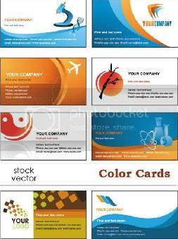 Stock Vector Color Cards